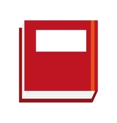 book design read icon Flat and isolated vector image vector image