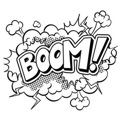Boom word comic book coloring vector