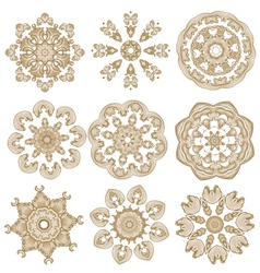 brown embroidery vector image