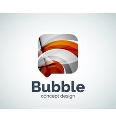 Bubble logo template vector