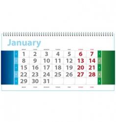 calendar template vector image