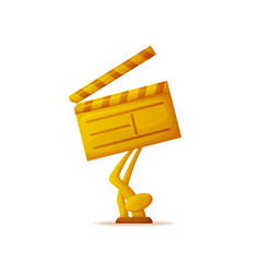 Clapperboard director filmmaking industry icon vector