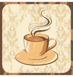 Coffee cup retro vector