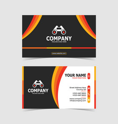 colorful modern and creative double-sided business vector image