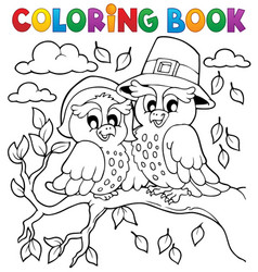 Coloring book thanksgiving image 5 vector