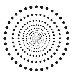 concentric dots in circular form abstract vector image
