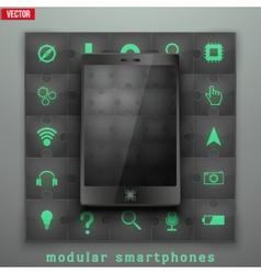 Concept modular smartphone background vector