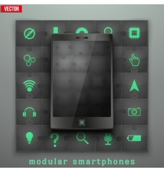 Concept of Modular smartphone Background vector image