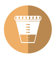 Container sample laboratory icon shadow vector