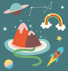 Cosmos cartoon vector