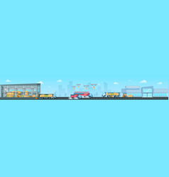 delivering goods from depot to shop concept vector image