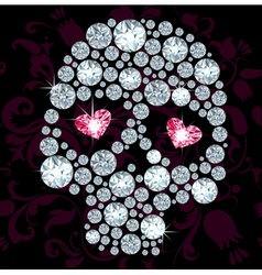 Diamond skull vector image