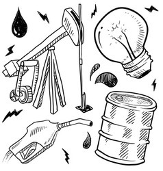 doodle power source oil vector image