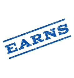 Earns Watermark Stamp vector image