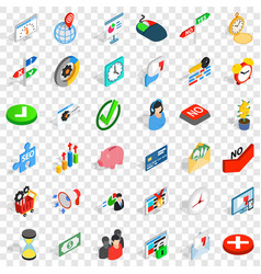 Echange icons set isometric style vector