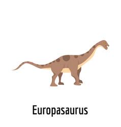 Europasaurus icon flat style vector