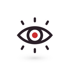 eye outline icon linear style perfect for vision vector image