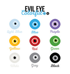 Eye-shaped nazar amulets in variety colors vector
