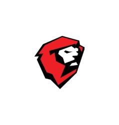 Fierce lion sport mascot sign vector image