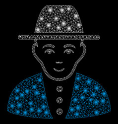Flare mesh carcass jew with flare spots vector