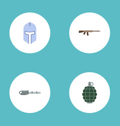 flat icons dynamite warrior firearm and other vector image vector image
