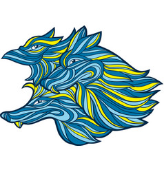 Graphic of wolves vector