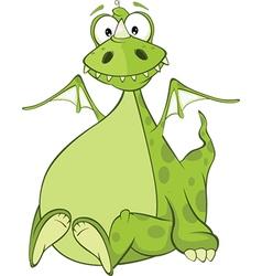 Green Dragon Cartoon Character vector image