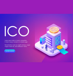 ico cryptocurrency business vector image