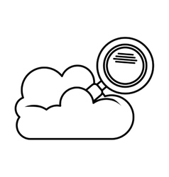Isolated cloud computing and lupe design vector