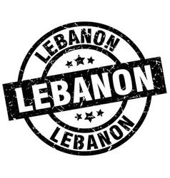 Lebanon black round grunge stamp vector