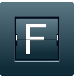 Letter F from mechanical scoreboard vector image