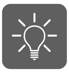Light bulb flat squared icon vector