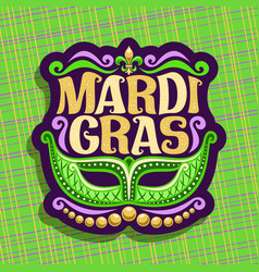 Logo for mardi gras vector