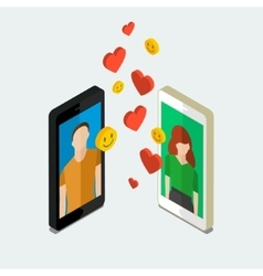 Long distance relationship vector