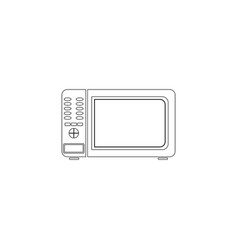 microwave flat icon vector image