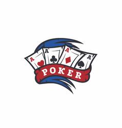 Modern professional logo emblem poker game vector