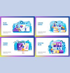 Online courses concept set vector