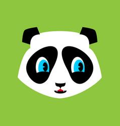 panda cute emoji chinese bear nice face vector image