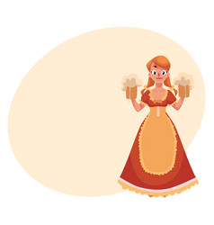 People in traditional german bavarian costume vector