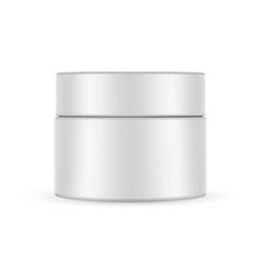 plastic cosmetic jar mockup vector image