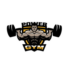 Power gym logo emblem vector
