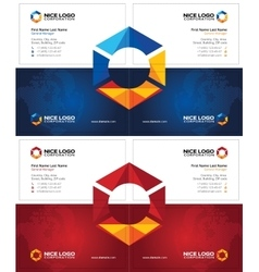 Prism business card dark vector