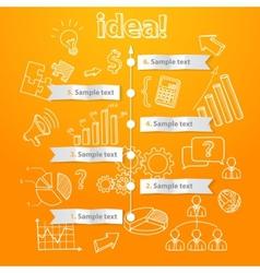 Process of idea generation business vector