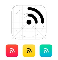 Radio signal Wi-Fi icon vector