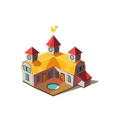 Rancho house simplified cute vector
