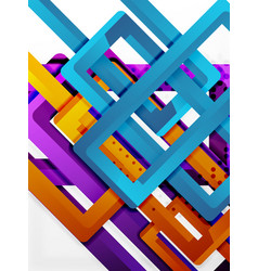 Rectangle tube elements background vector