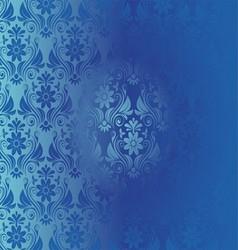 Retro Background Floral Blue Pattern vector image