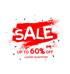 Sale up to 60 limited quantities red paint backgr vector