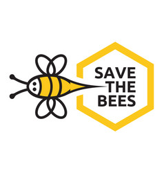 Save bees sign vector