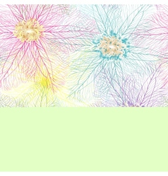 Seamless abstract flower texture vector image